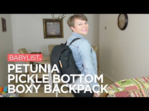 Petunia Pickle Bottom Boxy Backpack Review