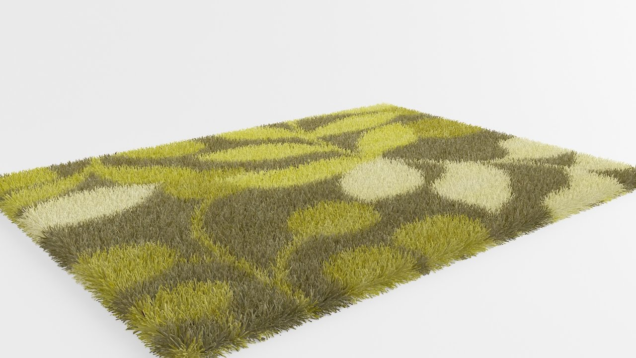 3ds Max Vray Realistic Rug & Carpet