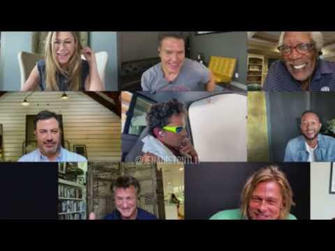 Jennifer Aniston and Brad Pitt meet on Zoom