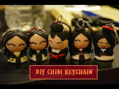 hmong chibi keychain using polymer clay