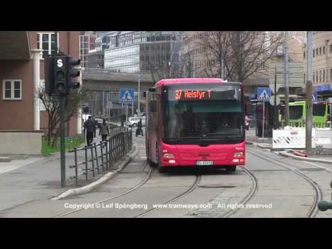 Oslo Buses around the Central Railway Station, Oslo, Norway