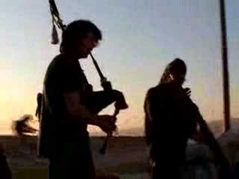 Bagpipe and Didgeridoo at sunset