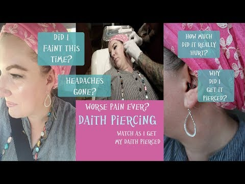 My Daith Piercing Experience