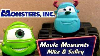 Disney Cars Monsters University Sulley + Mike Wazowski Diecasts Movie Moments Pixar car-toys