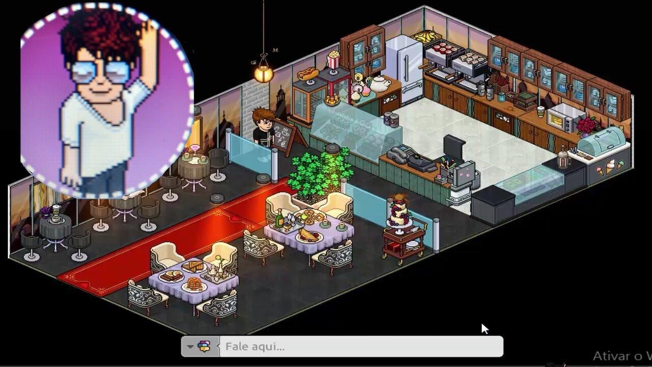 Como fazer cafeteria no habbo youtube for Casa moderna habbo