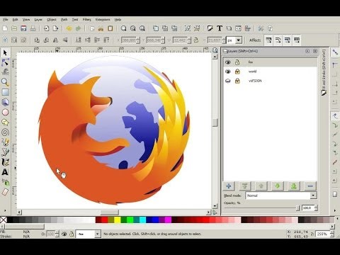 How To Redesign Logo Mozilla Firefox Using Inkscape