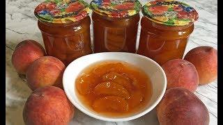 Простой Рецепт Варенье из Персиков на Зиму / Персиковое Варенье Янтарного Цвета Дольками / Peach Jam