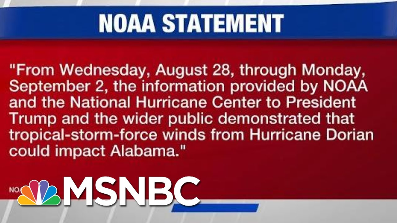 NOAA Feuds With National Weather Center Over Dorian Projections | Hardball  | MSNBC