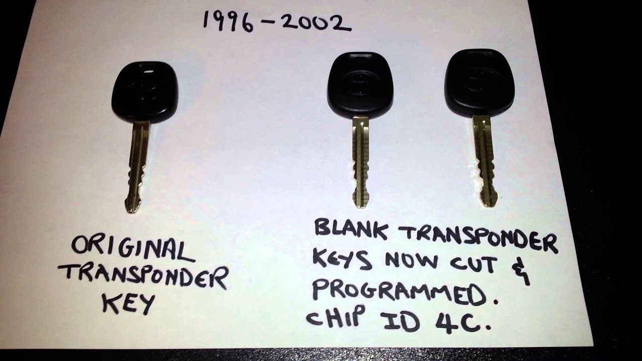 Program Transponder Key For 2000 Toyota 4runner Youtube