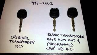Program transponder key for 2000 Toyota 4Runner