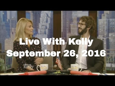 Live With Kelly co-host Josh Groban  (September 26, 2016) Rob Lowe,Will Forte