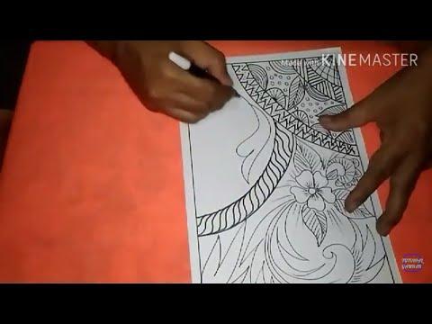 Cara Menggambar Motif Batik Abstrak Batik Abstrak 3