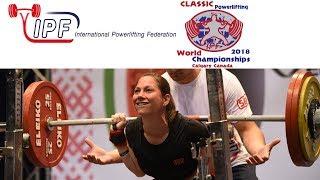 Women M2-M4, 57 kg - World Classic Powerlifting Championships 2018 Platform 1