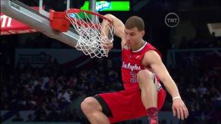 Blake Griffin - Off the Backboard with a Forearm Hang Dunk (2-19-2011 NBA Dunk Contest)