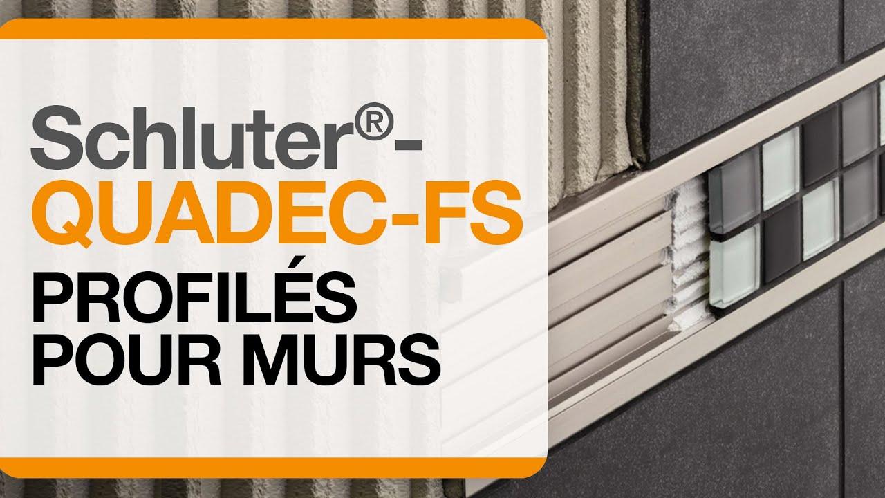 Comment Poser Baguette D Angle Carrelage comment installer un profilé pour carreaux décoratifs au mur :  schluter®-quadec-fs