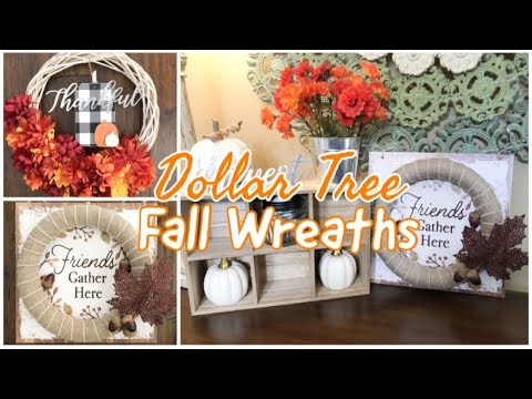FALL WREATH | DOLLAR TREE DIY