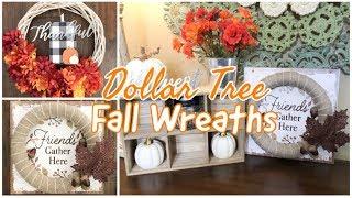 FALL WREATH | DOLLAR TREE DIY