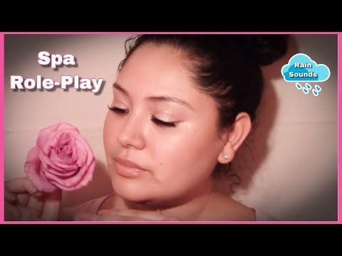 ASMR │Esthetician Role Play │ Akita Rose Therapy │Layered rain sounds 🌹