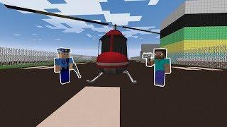 KÖTÜ ADAMLAR HELİKOPTER İLE KAÇIYOR! 😱 - Minecraft