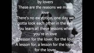 Lessons For The Lover-Usher Lyrics On Screen