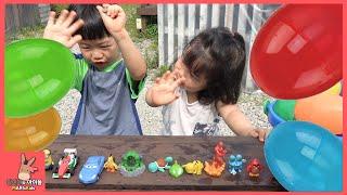 장난감 놀이 찾기! 서프라이즈 에그 알까기 후 미니언즈 앵그리버드 피카츄 나왔어요 ♡ 어린이 장난감 놀이 Surprise eggs toys | 말이야와아이들 MariAndKids