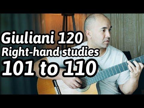 120 Guitar Arpeggios | 101 to 110 | Mauro Giuliani | Classical Guitar Lesson