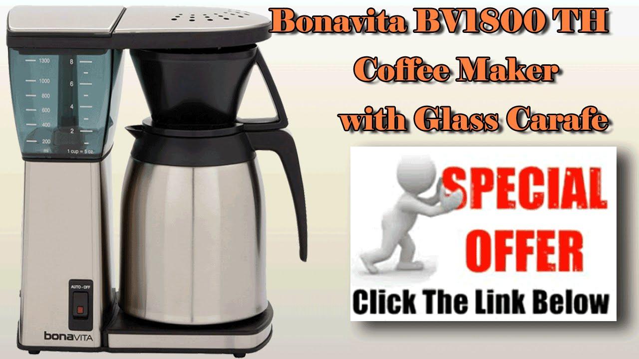 Bonavita Coffee Maker Stopped Working : Bonavita Bv1800TH : Bonavita Coffee Maker - YouTube