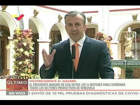 El Aissami amplió información sobre medidas económicas en Venezuela para enfrentar Covid-19