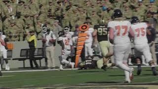 Army Football: Elijah Riley Forced Fumble vs. Morgan State 9-21-19