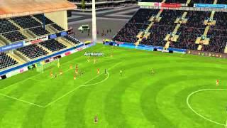Barcelona 'B' - Murcia - Gol de Rol�n 49 minutos