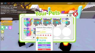 Roblox Pet Simulator Pet Çekilişi! Rainbow Red Lollipop Dominus Damnee