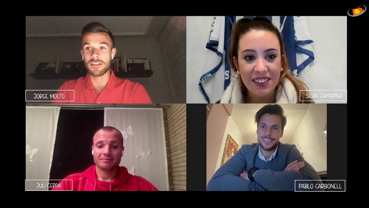 Espai Entrevistes, amb Juli, Pablo Carbonell i Jorge Moltó jugadors de l'Alcoyano