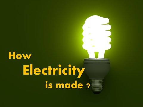 How Electricity is produced  - For Kids