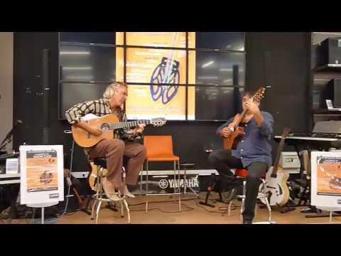 LOUIS winsberg et  Joël Gombert au Cultura de Nîmes pour Festival Couleurs guitare