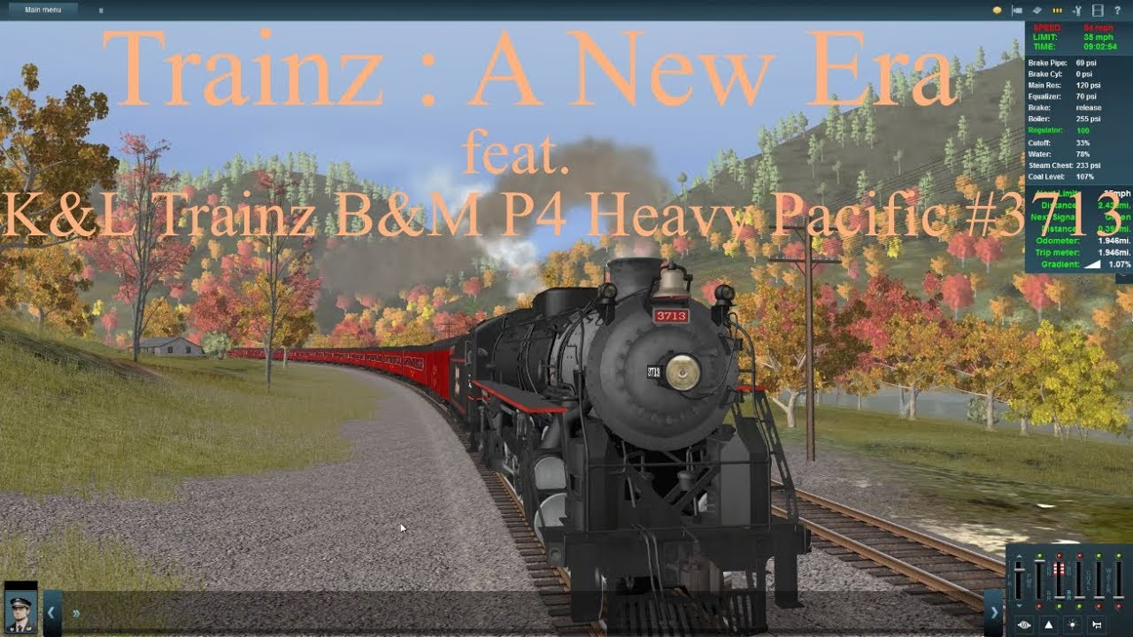 Trainz : A New Era feat K&L Trainz B&M P4 #3713