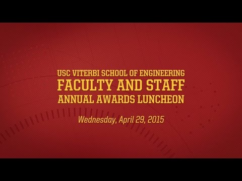 USC Viterbi 2015 Faculty & Staff Annual Awards Luncheon