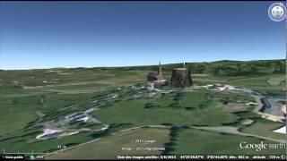 La Roque Valzergues Le Viala Le Ginou Aveyron | Vidéo éoliennes industrielles en 3D