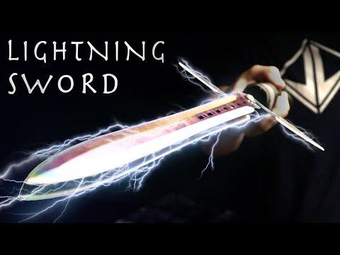 How To Make a LIGHTNING SWORD! - Electric Taser Sword, Simple Design (⚡SHOCKING Results⚡)