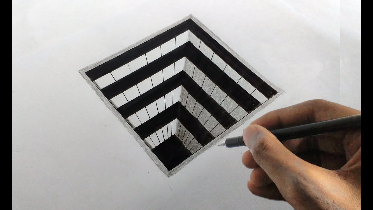 how to draw squares on a sheet of paper