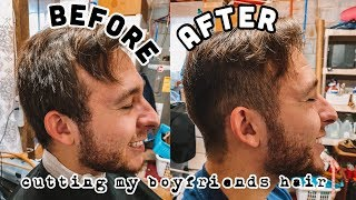 CUTTING MY BOYFRIEND'S HAIR while reviewing a BLUETOOTH SPEAKER