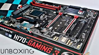 UNBOXING MOTHERBOARD GIGABYTE H170 GAMING 3