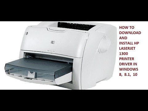 pilote imprimante hp laserjet 1300 pour windows 7