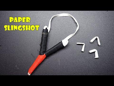 Simple life hack How To Make Paper SlingShot (EASY)