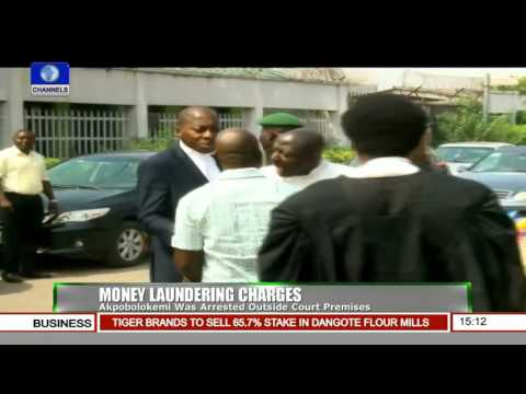 Fmr DG NIMASA Bundled Into Vehicle Outside Court Premises By EFCC Officials