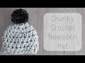 DIY 10 minute crochet newborn chunky hat tutorial