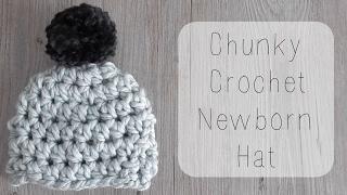 DIY 10 minute crochet newborn chunky hat tutorial - YouTube 0f5d87dc0f5