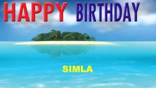 Simla   Card Tarjeta - Happy Birthday