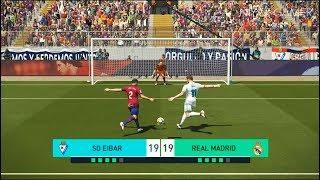 EIBAR vs REAL MADRID | Penalty Shootout | PES 2018 Gameplay PC