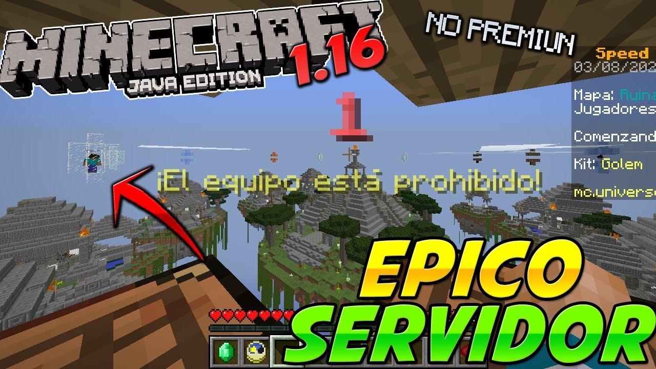 SERVIDOR Para Minecraft 1.16.1 - SIN LAG NO PREMIUN!