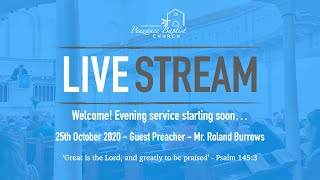 Penzance Baptist Church - Live Stream - 25th October 2020 PM